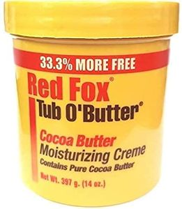 Red Fox Tub O'Butter Cocoa Butter Moisturizing Creme 14oz