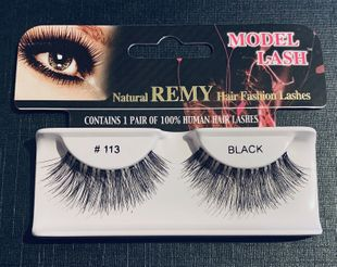 Natural Remy lashes *113