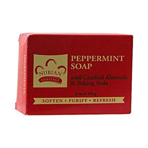 Nubian Peppermint Soap with Crushed Almonds & Baking Soda
